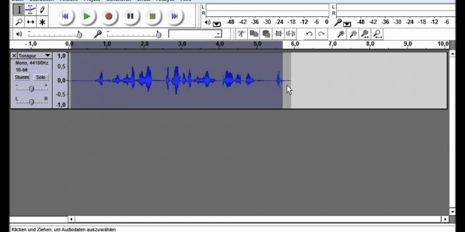 Computer-Tipps Folge 4: Tonaufnahme mit Audacity
