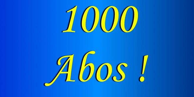 Danke für 1000 Abonnenten!