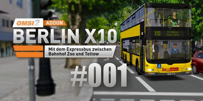 OMSI 2 Berlin X10-Addon #001 – Linie X10 mit dem Doppeldecker