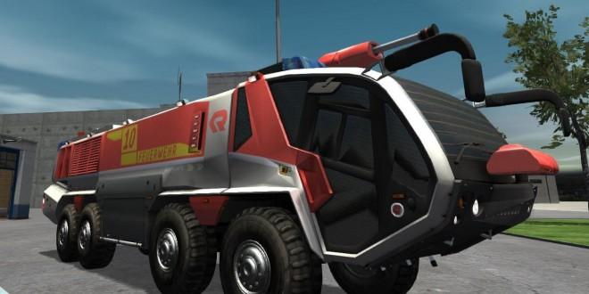Flughafenfeuerwehr-Simulator #007 – ein brennender Hubschrauber