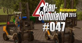 Bau-Simulator 2015 Gold Multiplayer #047 – Gabelstapler-Race!