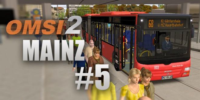 OMSI 2: Mainz mit Linie 68 und dem MAN Lion's City GÜ – Verpästung reinholen