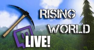 LIVESTREAM! Heute, 21 Uhr mit Rising World auf Twitch!