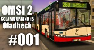 OMSI 2 mit dem Solaris Urbino 18 durch Gladbeck Linie 264 #001