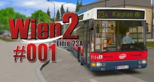 OMSI 2 Wien 2 23A mit dem NG 235 Gelenkbus #001 – Zur Hausfeldstraße!