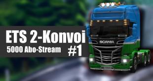 Euro Truck Simulator 2 Mega-Konvoi #1 – Die LKW-Kolonne setzt sich in Bewegung!