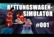 Rettungswagen-Simulator 2014 #001 – Schlangenlinien und Unfälle