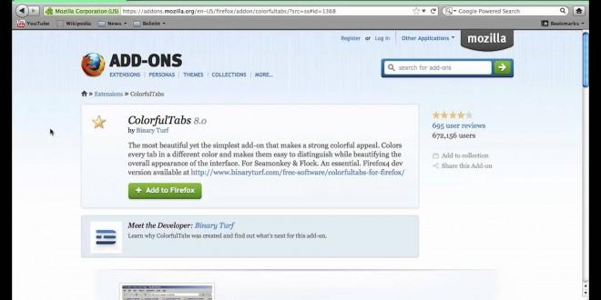 Firefox bunte Tabs