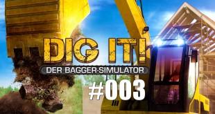 Dig it! Der Bagger-Simulator #003 – Wasserversorgung für den Eiscremeladen