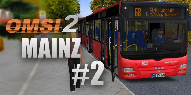 OMSI 2: Mainz mit Linie 68 und dem MAN Lion's City G – Untwerwegs mit der DB