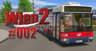 OMSI 2 Wien 2 23A mit dem NG 235 Gelenkbus #002 – Verspätung in Wien