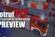 NOTRUF 112 – Die Feuerwehr-Simulation GAMEPLAY PREVIEW mit Fahrzeugen, Feuerwache und mehr!