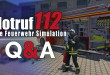 NOTRUF 112 – Die Feuerwehr-Simulation Entwickler Q&A: RTW, DLCs, Funk, Karriere und Leitstelle!