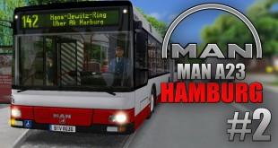 OMSI 2: MAN Stadtbusfamilie #2 – Mit dem MAN A23 NG 313 Gelenkbus durch Hamburg-Harburg!