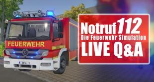 NOTRUF 112 – Die Feuerwehr-Simulation: LIVE Q&A mit Entwickler! I N112 Feuerwehr-Simulator