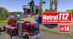 NOTRUF 112 #14: Das kommt bald: DLK-Einsatz! I Gameplay von Notruf 112 die Feuerwehr-Simulation