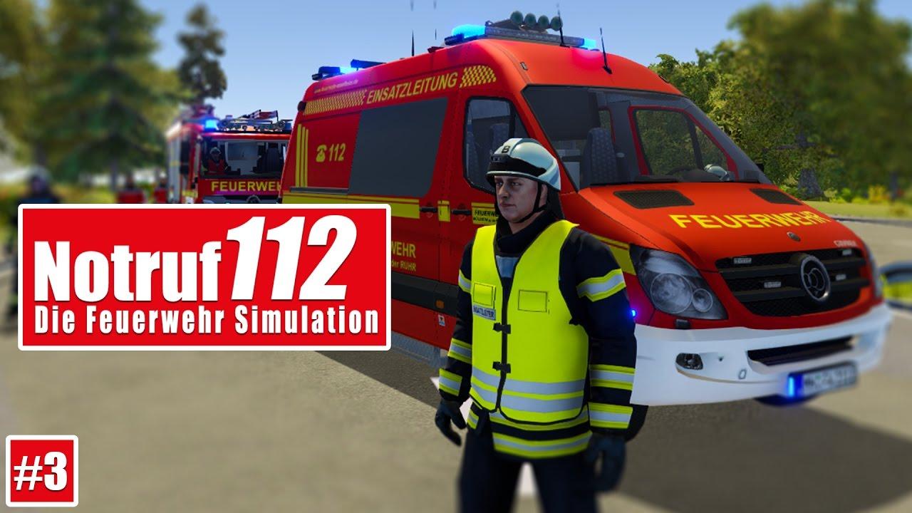 NOTRUF 112 #3: PKW brennt auf der Autobahn! I Gameplay PREVIEW ...