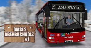 OMSI 2: Ober-Buchholz mit dem MAN Lion's City A37 #1 – durch Winter-Landschaften mit DB-Repaint!