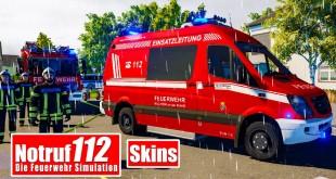 NOTRUF 112 #31: Pimp my Ride: EIGENE SKINS auf dem FEUERWEHRAUTO! I Feuerwehr-Simulation
