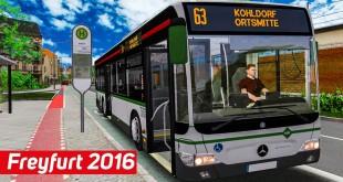 OMSI 2 Freyfurt 2016 #1: Citaro Facelift auf der Linie 63 – neue Rekordzeit im pinken Bus!
