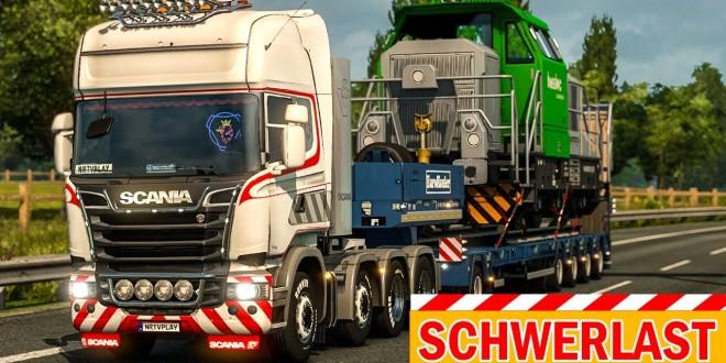 SCHWERLAST-TRANSPORT: 61 Tonnen-Lok auf dem LKW! | EURO TRUCK SIMULATOR 2 Heavy Cargo Pack