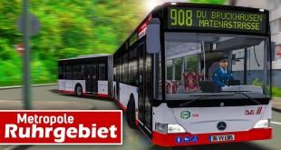 OMSI 2: Metropole Ruhrgebiet PREVIEW #1: Durch Duisburg auf der 908 mit dem MB O530 Gelenkbus