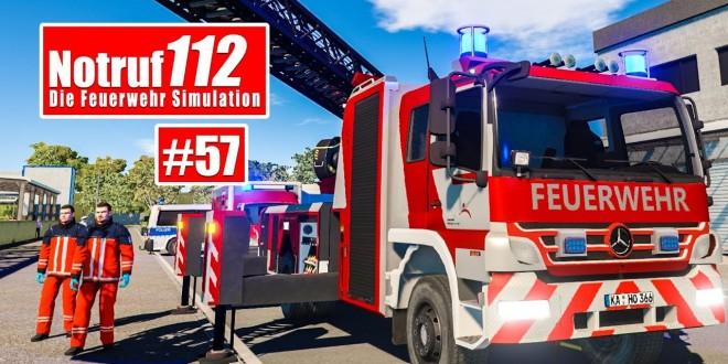 NOTRUF 112 #56: Zwei Feuerwehrleute im Supermarkt! I Feuerwehr-Simulation