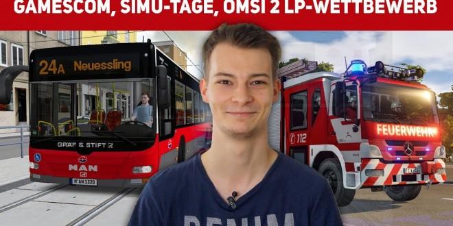 UPDATE: Gamescom, Notruf 112-Aktion, Simulator-Tage (mit LOTUS) und OMSI 2 Let's Player aufgepasst!