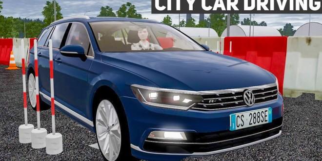 Fahrsicherheitstraining mit dem VW PASSAT R-Line 2016 CITY CAR DRIVING #4 – der Auto-Simulator