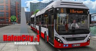 OMSI 2: Hamburg HafenCity #1 – Mit dem Volvo 7900 Hybrid-Bus auf der Linie 6! | BUS-SIMULATOR