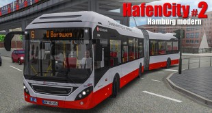 OMSI 2: Hamburg HafenCity #2 – Am Borgweg mit dem Volvo 7900 Hybrid-Bus! | BUS-SIMULATOR