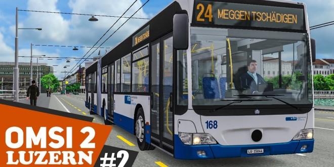 OMSI 2: Luzern Linie 24 mit dem MB O530G Facelift #2: Panoramaausblick im Gebirge!   BUS-SIMULATOR
