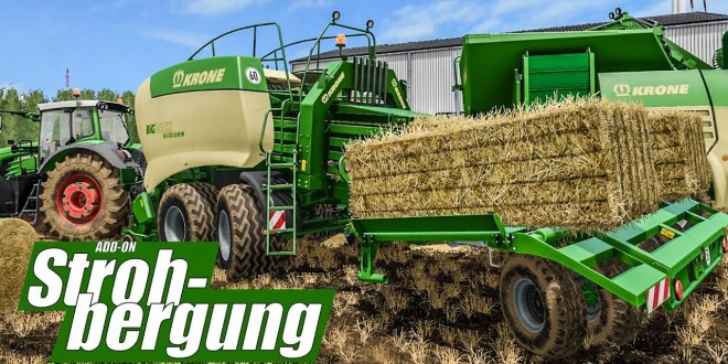 LS17 STROHBERGUNG: Preview der Geräte mit Strohpellets und Krone Ballenpresse! Straw Harvest deutsch