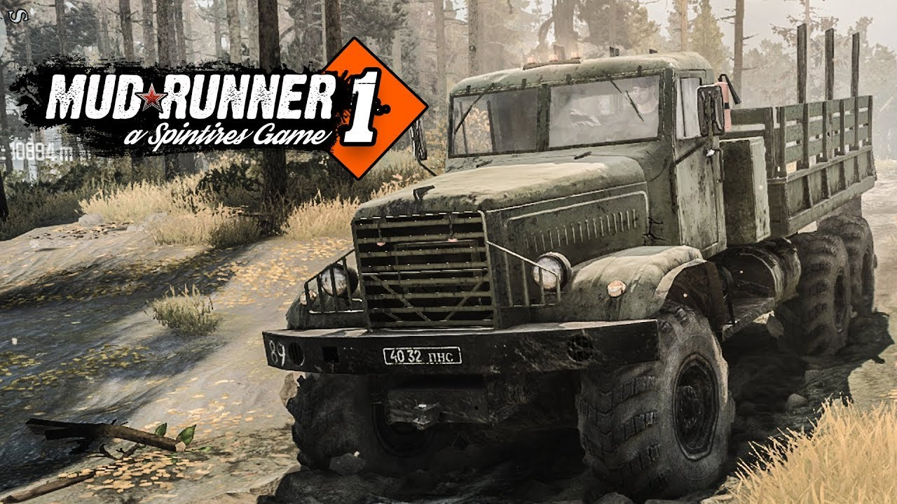 spintires mudrunner multiplayer 1 mit holzf ller gadarol im schlamm offroad simulation. Black Bedroom Furniture Sets. Home Design Ideas