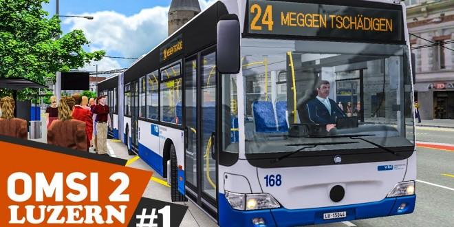 OMSI 2: Luzern Linie 24 mit dem MB O530G Facelift #1: Willkommen in der Schweiz! | BUS-SIMULATOR