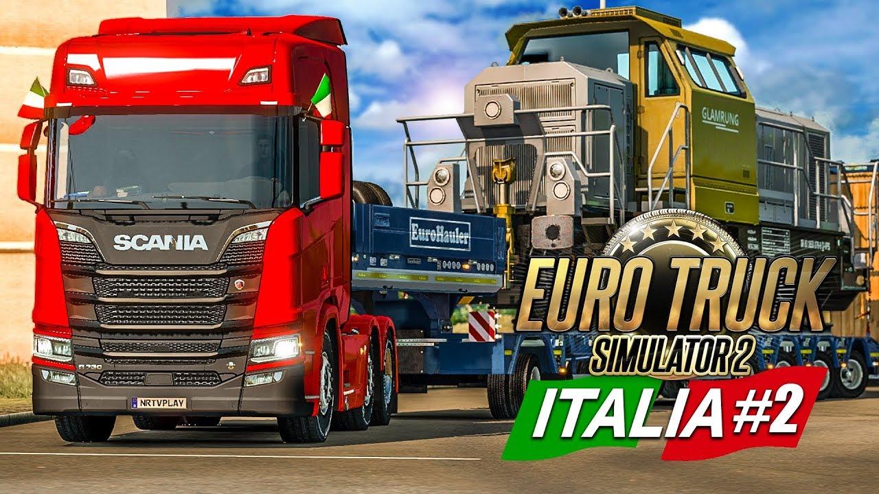 euro truck simulator 2 italia 2 mit schwerlast durch. Black Bedroom Furniture Sets. Home Design Ideas