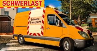 SPEZIALTRANSPORT mit Mercedes Sprinter als BEGLEITFAHRZEUG!   ETS 2 Special Transport DLC deutsch #8