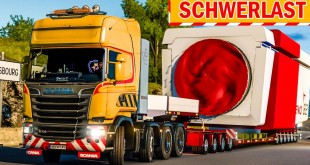 Spezialtransport: Schwere Maschine auf dem LKW!   ETS 2 Special Transport DLC deutsch #9