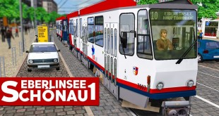 OMSI 2: Die Straßenbahn TATRA KT4D auf der 10 nach Eberlinsee! | OMSI Eberlinsee-Schönau
