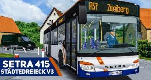 OMSI 2: Mit dem SETRA 415 NF unterwegs im STÄDTEDREIECK V3 #1: Mit Müllwagen und Kehrmaschine!