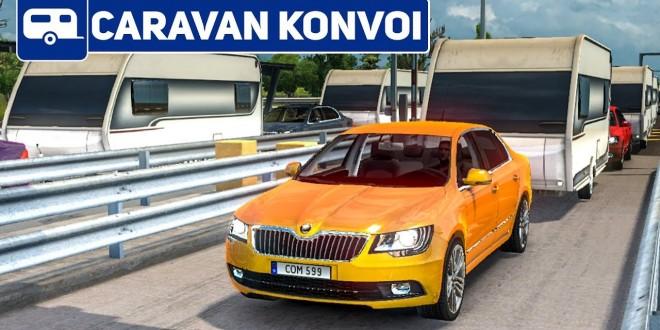 ETS 2: Mit 200 WOHNWAGEN durch Italien!   Caravan Konvoi #1 im Euro Truck Simulator 2 deutsch