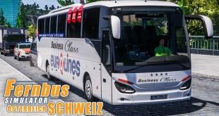 FERNBUS SIMULATOR Schweiz Österreich #76 – Quer durch die Berge! FBS Platinum mit SETRA ComfortClass