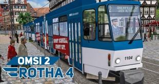 OMSI 2 Rotha #4: Komplette Linie 2 mit modifizierter Tatra KT4D-Straßenbahn! | Bus-Simulator