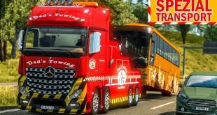 ETS 2: Actros ABSCHLEPPWAGEN mit BUS am Haken | ETS 2 Spezialtransport deutsch #13