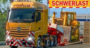 Spezialtransport: Großer CAT BULLDOZER transportiert!   ETS 2 Special Transport DLC deutsch #12