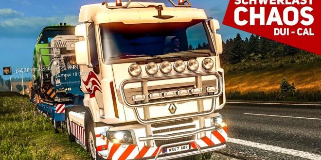 ETS 2: Schwerlast Multiplayer #2: Der Kampf bergauf! | Low Power Schwerlast | Duisburg – Calais