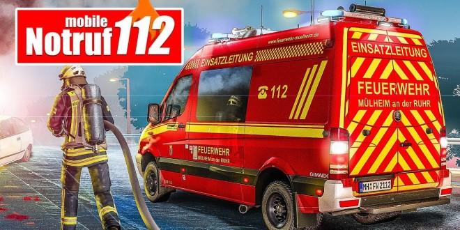 NOTRUF 112 APP #2: Autounfall und Baumsägeeinsatz! | Feuerwehr-Simulator für iOS und Android