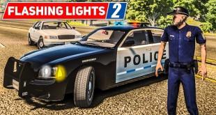 FLASHING LIGHTS #2: Verfolgungsjagd mit der POLIZEI!   Blaulicht Simulation Preview deutsch