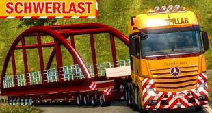 Spezialtransport: 90 TONNEN schwere BRÜCKE ziehen!   ETS 2 Special Transport DLC deutsch #11