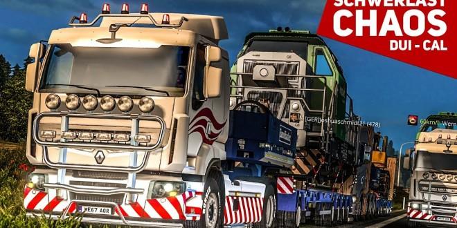 ETS 2: Schwerlast Multiplayer #1: Der ABSOLUTE WAHNSINN! | Low Power Schwerlast | Duisburg – Calais